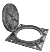 Plaque d'égoût à surface antidérapante D400 - Classe : D 400 - Dimension extérieure (mm) : 850 x 850