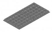 Plaque d'égout avec cadre F900 - Classe : F 900 - Dimensions (mm) : 1600 x 800