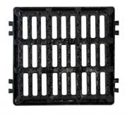 Plaque d'égout carrée PMR à grille C 250 - Classe : C 250