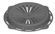 Plaque d'égout ronde à grille concave D 400 - Classe : D 400