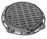 Plaque d'égout ronde PMR à grille C 250 - Classe : C 250
