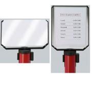 Plaque d'informations sur poteau - Format vertical ou horizontal - Dimensions (H x l) cm : 30 x 21