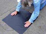 Plaque d'obturation à usage unique - Enduit de polyuréthane sur un support polyester adhésive