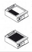 Plaque de cuisson à gaz Lisse - Puissance Kw: 6 - 9- 12 -15