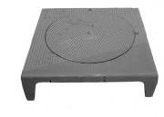 Plaque de recouvrement avec tampon C250 800 x 800 mm - Classe : C 250 - Dimensions (mm) : 800 x 800