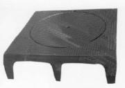 Plaque de recouvrement en fonte A C250 - Classe : C 250 - Dimension extérieure (mm) : 800 x 800 - profil T /