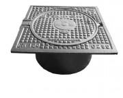 Plaque de recouvrement en fonte B125 - Classe : B 125 - Dimension extérieure (mm) : 360