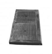 Plaque de recouvrement fonte C250 1000 x 600 mm - Classe : C 250 - Dimension extérieure (mm) : 1000 x 600