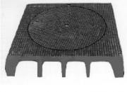 Plaque de recouvrement profil A C250 - Classe : C 250 - Dimension extérieure (mm) : 800 x 800