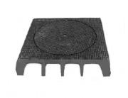 Plaque de recouvrement trottoir en fonte D400 800 x 800 mm - Classe : D 400 - Dimension extérieure (mm) : 800 x 800