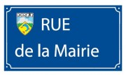 Plaque de rue traditionnelle en aluminium - Dimensions (mm) : 450 x 250 - 500 x 300