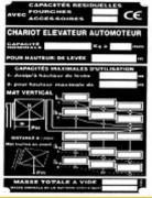 Plaque industriel signaletique - Plaque d'identification