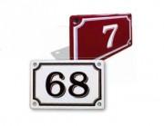 Plaque numéro de maison en émail - Dimensions (mm) : 150 x 100