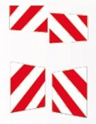 Plaque pour signalisation véhicule - Dimensions disponibles (cm) : 42 x 28 - 42 x 42