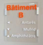 Plaque signalétique bureau - Longueur du profil : 6 ou 10 cm - Format : A4 - A5 ou A6