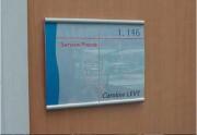 Plaque signalétique pour entreprise - Matière : Aluminium - Dimensions (L x H) : De 104 x 104 mm à 220 x 297 mm
