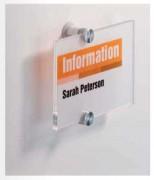 Plaque signalétique transparente - Signalétique intérieure pour bureau