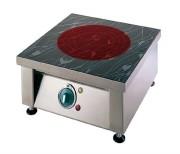 Plaque vitrocéramique monofoyer radiant à poser - Résistance circulaire infrarouge de Ø 210 mm