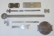 Plaquette aluminium - Formes et tailles différentes