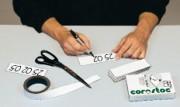Plaquette magnétique à libeller soi-même 25x80 mm - 25 x 80 mm