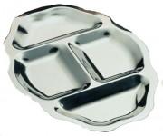 Plat hors-d'oeuvre 40 x 27 cm - Dimensions : 40 x 27 cm - Poids : 0,59 kg - Inox 18/10 - 4 compartiments