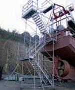 Plate-forme d'accès chantier naval - Plateforme sur mesure en aluminium