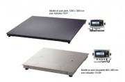 Plate forme de pesage 300 à 3000 Kgs - Quatre capacités standard (Kg) : 300 - 600 - 1500 - 3000