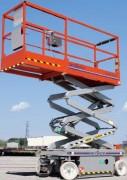 Plate-forme électrique ciseaux - Hauteur de travail : 6.6m - 7.8m. Capacité de charge : 272kg - 249kg