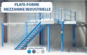 Plate forme mezzanine matériel électrique - Capacité de charge : de 250 à 750 kg selon les portées