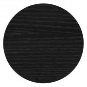 Plateau de table rond mélaminé noir - Diamètre Ø : de 60 à 180 cm
