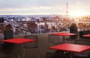 Plateau de table stratifié CLASSIC pour restaurant, café et bar - Le plateau de table classic est utilisé dans 80 % des terrasses de restaurant. Dimension : de 60x60 cm à 120x80 cm