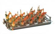 Plateau de transport 45 verrines - 45 verrines - Dimensions (Longueur x Largeur): 53 x 32,5 cm - Poids: 1,1 kg