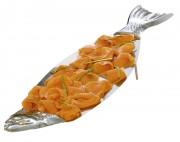 Plateau incliné en forme de poisson