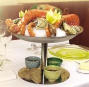 Plateau pour fruits de mer diamètre 36 cm - Diamètre : 36 cm - pour table de deux personnes