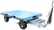 Remorque à plateau en tôle acier 1 tonne - Dimensions : 1516 x 1000 mm