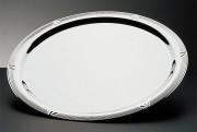Plateau rond 'décor' inox 18/10 - Diamètre: 48 cm - Poids unitaire: 1,51 kg