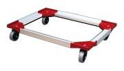 Plateau roulant aluminium pour bacs - Charge maximale (kg) : 250