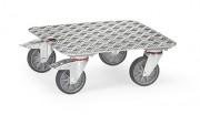 Plateau roulant en aluminium - Charge (kg) : 250 - Norme EN 1757-3