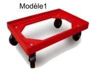 Plateau roulant porte bacs - Charges maximales : 250 kg