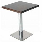 Plateau table en bois massif pour café