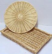 Plateaux boulangerie en osier - Hauteur disponible (cm) : 5 - Ronds et carrés