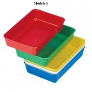 Plateaux de rangement en plastiques - Dimensions( L x l x H ) : 175 x 100 x 34 mm - Matière : Polystyrène