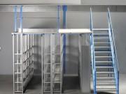 Plateforme à rayons - Adapté au stockage de produits mi-lourds