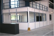 Plateforme avec bureau - Ossature aluminium épaisseur 50 à 70 mm
