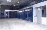 Plateforme avec bureau à cloison modulaire - Charge admissible de 250 à 2000 Kg par m²