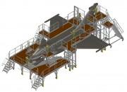 Plateforme de maintenance pour avion - Ensemble mobile et complet en aluminium