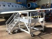 Plateforme de maintenance train d'atterrissage - Système d'assemblage rapide