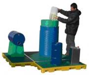 Plateforme de rétention à 4 fûts - Charge admissible : 1100 kg