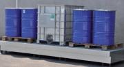 Plateforme de rétention acier cubitainers - Matériau : acier galvanisé