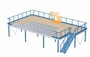 Plateforme de stockage 4000 kg par m² - Portée : Jusqu'à 6 m